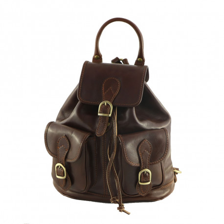 Leather Backpack - 3001 - Genuine Leather Bags
