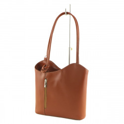 Women's Leather Bags - 1005 - Shoulder Bag / Backpack