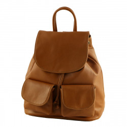 Genuine Leather Backpackas - 3005 - Small - Genuine Leather Bag