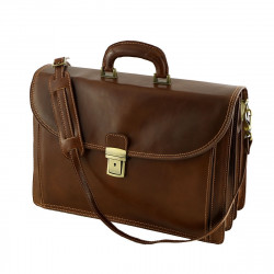 Leather Business Briefcases - 4008 - Genuine Leather Bag