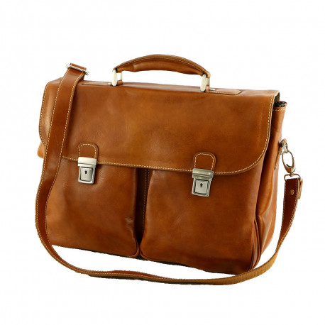 Leather Briefcase - 4009 - Genuine Leather Bags