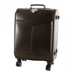 Leather Trolley - 6006 - Leather Travel Bag