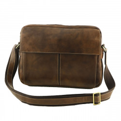 Leather Messenger Bag - 2023 - Genuine Leather Bags