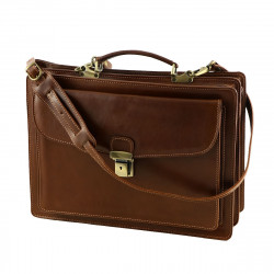 Leather Briefcase - 4005 - Genuine Leather Bags