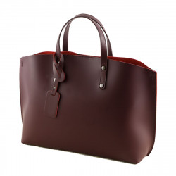 Women's Shoulder Bag - 1016 - Womens Leather Briefcase