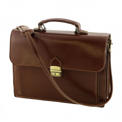 Leather Briefcase - 4018 - Genuine Leather Bags