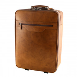 Leather Trolley - 6012 - Leather Travel Bag