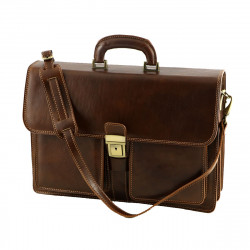 Genuine Leather Business  Briefcase - 4025 - Genuine Leather Bags