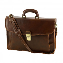 Leather Business Briefcases - 4027 - Genuine Leather Bag