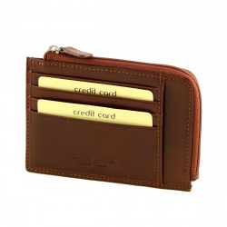 Leather Credit Card Holder - 7162