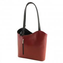 Women's Leather Bags - 1069 - Shoulder Bag / Backpack