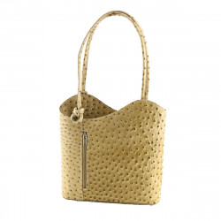 BICOLOR - Leather Bags Womens - 1070 - Shoulder Bag / Backpack