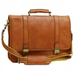 Genuine Leather Briefcase - FLB0309 - Leather Bags Florentine