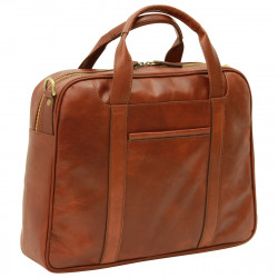 Genuine Leather Briefcase - FLB0316 - Leather Bags Florentine