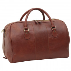 Genuine Leather Travel Bag - FLB0348 - Leather Bags Florentine