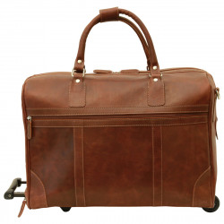 Genuine Leather Bag/Trolley - NW0015 - Leather Bags New World