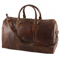 Leather Travel Bag - 0013 - Luxury