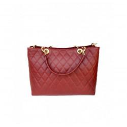 Women's Handbags - 1015 - Leather Shoulder Bag